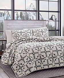 Arrowhead Charcoal Quilt Set, Full/Queen