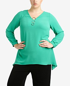 Plus Size Three-Ring Top