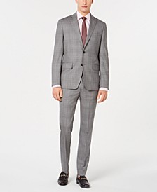 Men's Modern-Fit Plaid Suit Separates