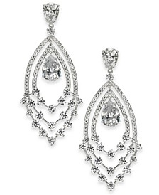 Silver-Tone Crystal Drop Earrings, Created for Macy's
