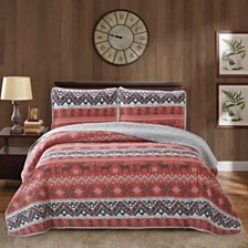 Moose 3 Piece Quilt Set Full/Queen