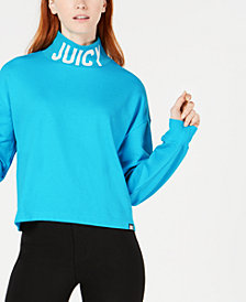 Juicy Couture French Terry Logo Turtleneck