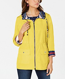 Reversible Striped Anorak, Created for Macy's