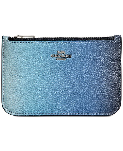 new arrive 1f7f5 96081 Ombre Leather Zip Card Case