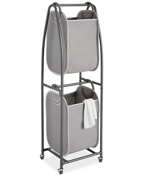 Neatfreak 2-Tier Rolling Vertical Laundry Sorter with Hamper Totes & EVERFRESH® Odor Control