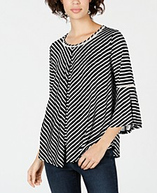 Petite Lattice-Trim Split-Overlay Top