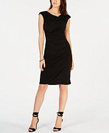Connected Draped Sheath Dress
