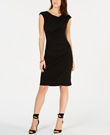 Connected Draped Sheath Dress