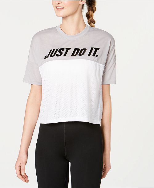 Nike Just Do It Dri-FIT Colorblocked Running Top