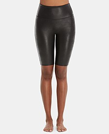 Faux-Leather Bike Shorts