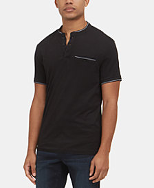 Kenneth Cole New York Men's Contrast Pocket Henley Shirt