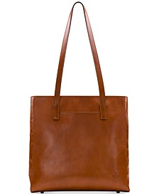 Viana Leather North South Tote