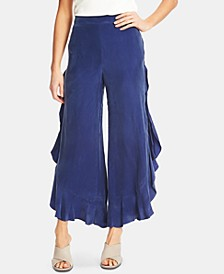 Ruffled Wide-Leg Pants