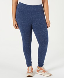 Ideology Plus Size Tummy-Control Leggings, Created for Macy's