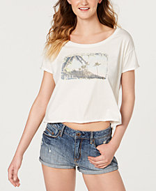 Roxy Juniors' Island Girl Cotton Crop Top