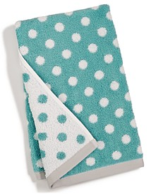 "15"" x 28"" Cotton Dot Spa Fashion Hand Towel, Created for Macy's"