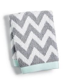 "Chevron Spa Cotton 13"" x 13"" Wash Towel, Created for Macy's"