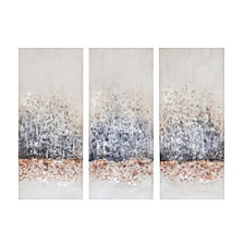 Madison Park Twilight Mystere Hand Brush Embellished Canvas, Set of 3