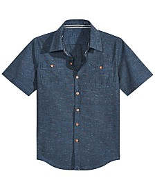 Univibe Big Boys Radiator Cotton Chambray Shirt
