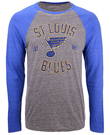 Majestic Men's St. Louis Blues Heritage Long Sleeve Raglan T-Shirt