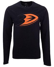 Authentic NHL Apparel Men's Anaheim Ducks Blackout Long Sleeve T-Shirt