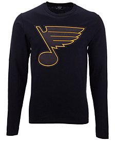 Authentic NHL Apparel Men's St. Louis Blues Blackout Long Sleeve T-Shirt