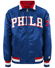 G-III Sports Men's Philadelphia 76ers Starter Captain II Satin Jacket