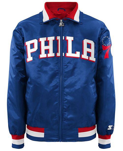 G-III Sports Men's Philadelphia 76ers Starter Captain II Satin Jacket