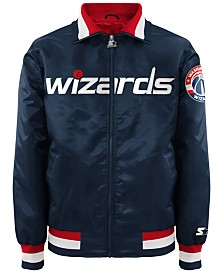 G-III Sports Men's Washington Wizards Starter Captain II Satin Jacket