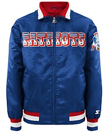 G-III Sports Men's New England Patriots Starter Captain II Satin Jacket