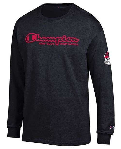Champion Men's Georgia Bulldogs Co-Branded Long Sleeve T-Shirt
