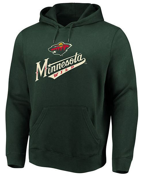 Majestic Men's Minnesota Wild Ice Logo Hoodie