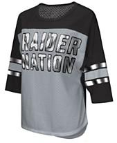 bd51cc55e4dc4 G-III Sports Women s Oakland Raiders Team Sleeve Stripe T-Shirt