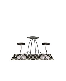 Pub and Bistro Table with Adjustable Stool, 3 Pieces