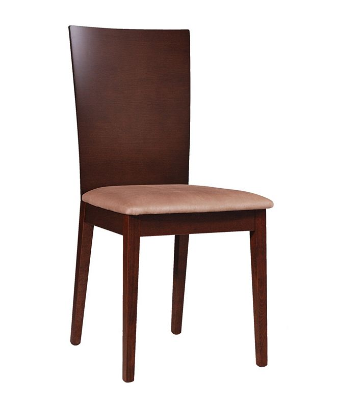 New Spec Inc New Spec Mid Century Wood Dining Chair Set of 2 Pieces