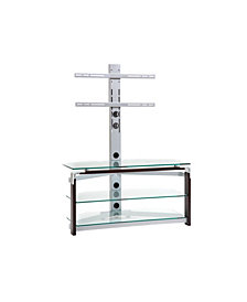 """42"""" TV Stand Mount with Tempered Glass"""