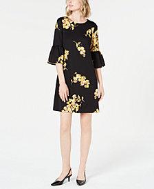 Alfani Petite Scuba Bell-Sleeve Dress, Created for Macy's