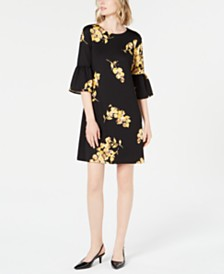 Alfani Scuba Bell-Sleeve Dress, Created for Macy's