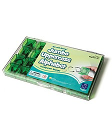 See and Stamp Jumbo Alphabet Transparent Stamps-Uppercase