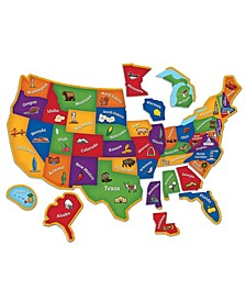 Learning Essentials - Magnetic U.S. Map Puzzle- 44 Pieces