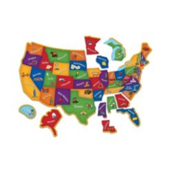 Learning Resources Learning Essentials - Magnetic U.s. Map Puzzle- 44 Pieces