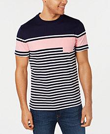 Club Room Men's Striped Pocket T-Shirt