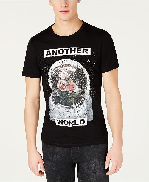 28729576 GUESS Men's Another World Graphic T-Shirt; GUESS Men's Another World Graphic  T- ...