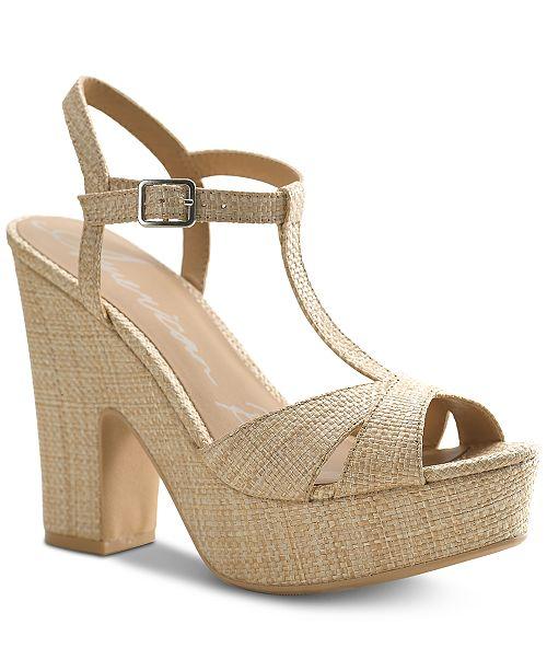 1f96bff5efd3 American Rag. Women s Jamie T-Strap Platform Dress Sandals
