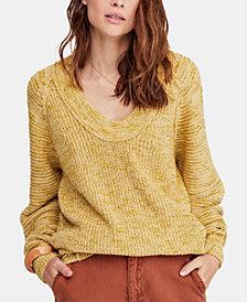 Free People Sunday Drop-Hem Sweater