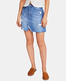 Free People Cotton Denim Skirt