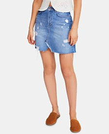 Free People Hallie Denim Mini Skirt
