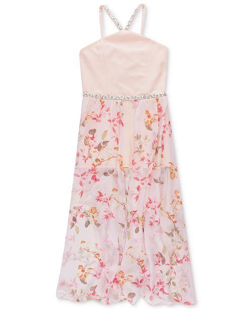 bdcc9ed322b0 Speechless Big Girls Floral-Print Maxi-Overlay Romper & Reviews ...
