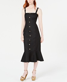 Rachel Zoe Camille Ruffled-Hem Open-Back Dress