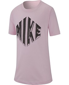 Nike Big Boys Logo-Print Cotton T-Shirt